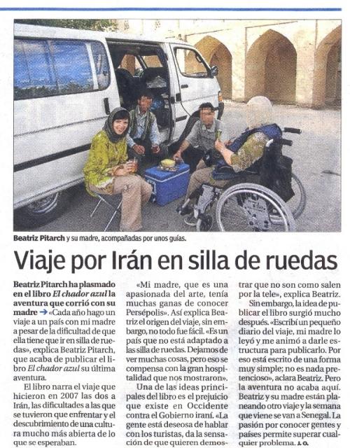 Viaje por Irán en silla de ruedas