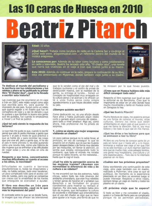 Entrevista en la revista Bejopa