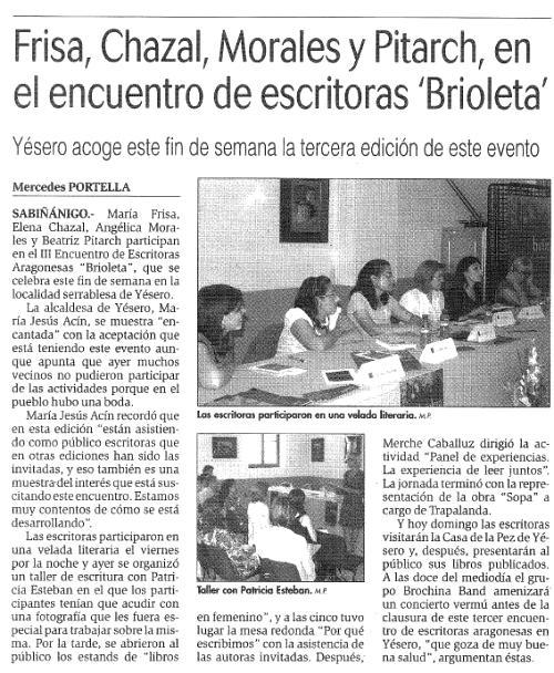 Brioleta en la prensa